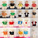 ขายตุ๊กตาหมีพร้อมเสื้อยืดในราคาประหยัด นำเสื้อไปรีดสติกเกอร์ได้ หรือนำไปปักก็ได้